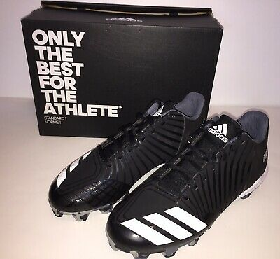 e21b5de8ee354 Adidas Men's Icon MD Molded Baseball Cleats Black/White, Size 7.5 New with  Box
