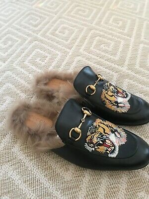b8437acc5ee6 GUCCI PRINCETOWN TIGER Slipper With Fur 37 US 6.5 -  375.00