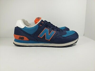 buy online e84d1 485b4 NEW BALANCE 574 ML574WNC Blue & Orange Core Plus Athletic Mens Sz 13 Great  Cond