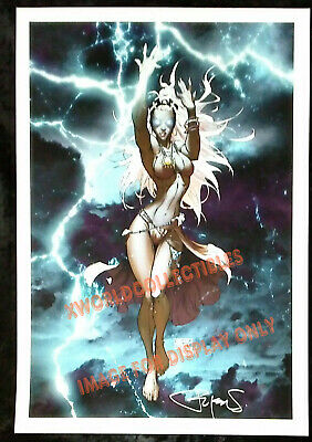"STORM X-MEN FINE ART PRINT  MICHAEL TURNER & PETER STEIGERWALD - SIGNED 13""x19"""
