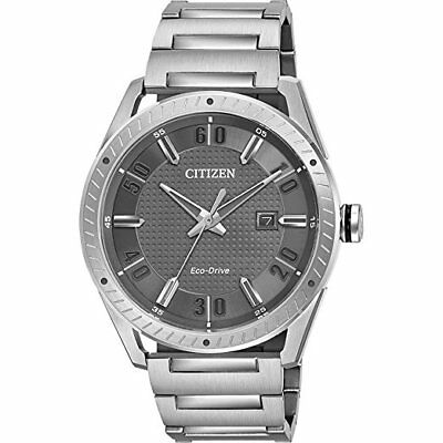 *BRAND NEW* Citizen Men's Eco-Drive Grey Dial Stainless Steel Watch BM6991-52H