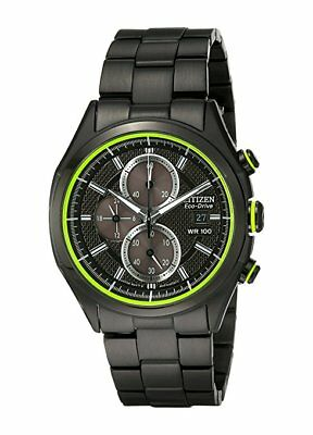 *BRAND NEW* Citizen Men's Eco-Drive Black Ion Plated Steel Watch CA0435-51E