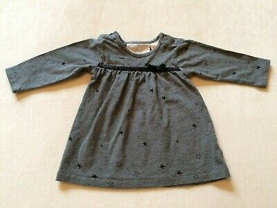 H&M - Dress - Baby Girl - 2-4 months - Grey and Black