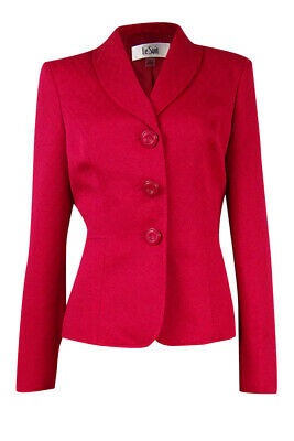 Le Suit Women's Textured 3-Button Blazer