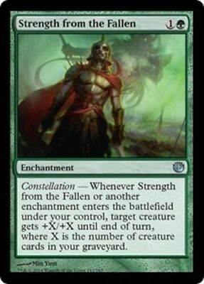Strength From The Fallen X 4 N/M- Journey Into Nyx Magic The Gathering