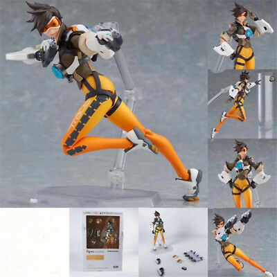"""6"""" Game Overwatch Tracer Action Figure Figma 352 OW Collectible Toy Gift In Box"""