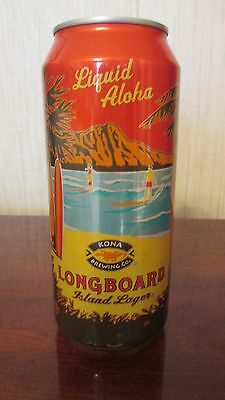 Longboard Island Lager Kona Brewing Co Stay Tab Intact 16 Oz Aluminum Can