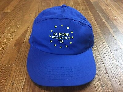 Vintage 1995 Europe Ryder Cup Adjustable Hat OS Golf Cap USA Vs Europe Phil 36ecc2e0f357