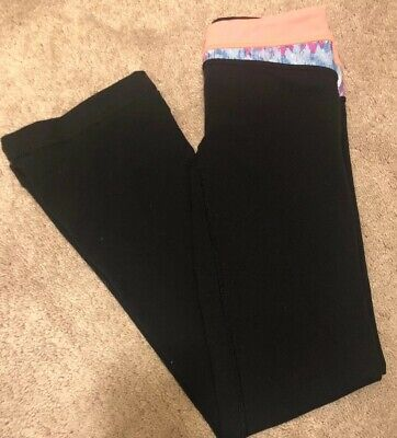 Ivivva By Lululemon Boot Cut Flare Leggings Yoga Pants Size 10 Black