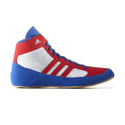 adidas Havoc Mens Adult Wrestling Trainer Shoe Boot Red/White/Blue