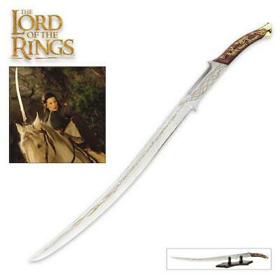 "Lord of the Rings Arwen Evenstar Hadhafang 38"" Sword w/ Stand UC COA Collectible"