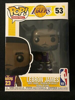 cbd17106270 Funko Pop LeBron James Los Angeles Lakers Fanatics Exclusive Purple Jersey  NBA