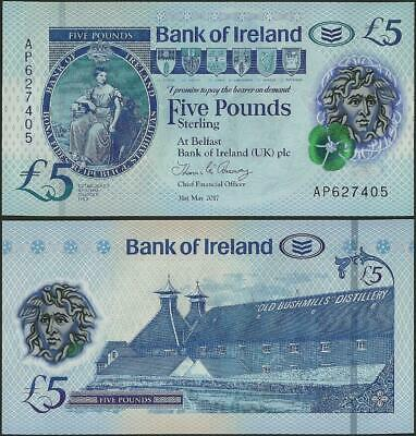 Northern Ireland,5 Pounds,Bank of Ireland,UNC,2019,Polymer,B136 @ EBS
