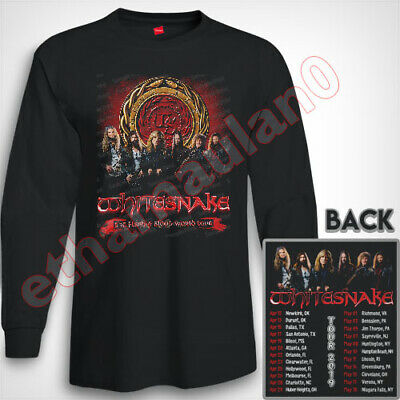 WhiteSnake Flesh and Blood Tour 2019  Long Sleeve T shirt S to 3XL MEN'S