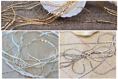 2m delicate jewellery beading chain 0.7mm Silver, Gold or White gold plated