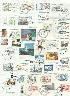 Greenland kiloware. 50 gram on paper stamps. Used/canceled #11