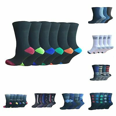 48 Pairs Of Mens Socks Assorted Patterns Size 6-11 Wholesale Job Lot