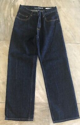 Boys GAP KIDS Straight Denim Jeans Dark Blue - Size 12 Regular Loose Fit