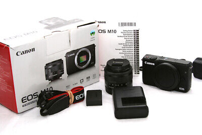 Canon EOS M10 DSLR Camera with 15-45mm IS STM Lens - Black **5404**