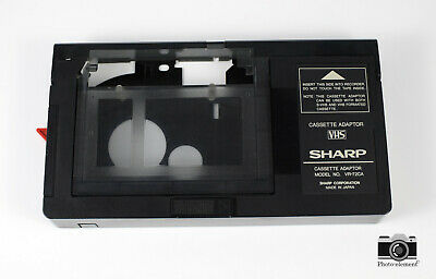 Sharp Vr-72Ca Vhs-C Cassette Tape Adapter Play Vhs-C Video Tapes On Vcr