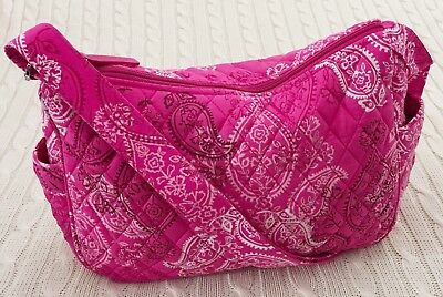 262d09679f Vera Bradley On The Go Crossbody Purse Stamped Paisley Pink NWT Exact MSRP   78