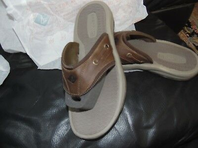 32d13de0fbf98 Sperry Top-Sider Men s Outer Banks Thong Sandal Brown 7D(M) US Leather