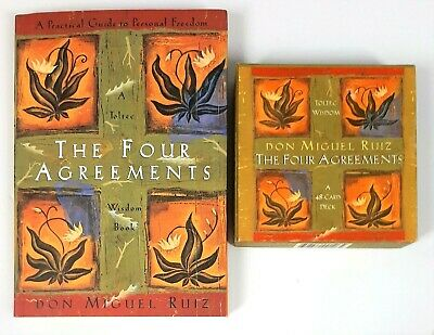 The Four Agreements: A Practical Guide to Personal Freedom Book and 48-Card Deck