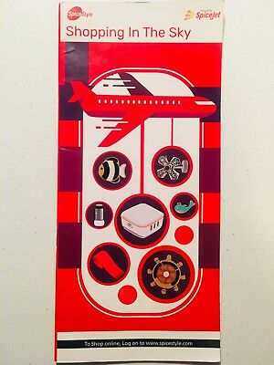 """SPICEJET """"Shopping In The Sky"""" SpiceStyle Inflight Magazine - Indian Collectible"""