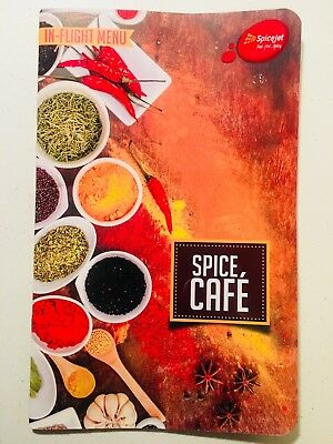 """SpiceJet Indian Airlines - In-Flight Menu Collection & Drinks Menus """"Spice Cafe"""""""