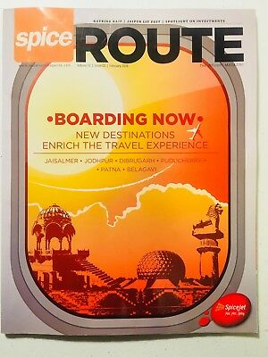 """SPICEJET - Inflight Magazine - February 2018, Vol. 12, Issue 02 ~ """"Spice Route"""""""