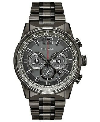 *BRAND NEW* Citizen Men's Eco-Drive Grey Dial Stainless Steel Watch CA4377-53H