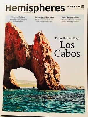 United Airlines - Hemispheres Magazine DECEMBER 2017 Los Cabos Cover 747