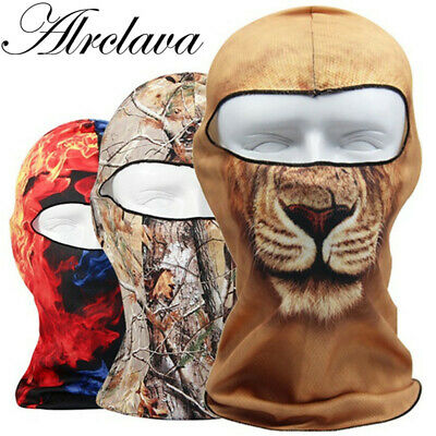 Balaclava Outdoor Bicycle Bike Cycling Basketball Golf Ski Hat  3D  Headgear