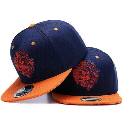 Snapback Hats for Men Lion Embroidery Flat Brim Hip Hop Caps Cute Fashion Style