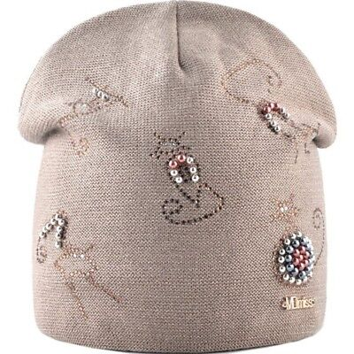 Winter Knitted Hats For Women New Fashion Beanie With Cute Rhinestone Pearls