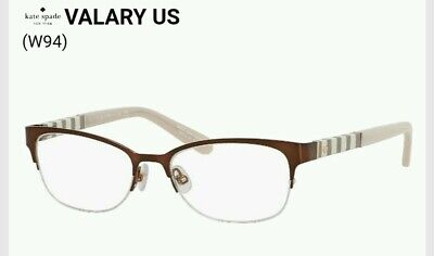d38cd65a6b5 Kate Spade Eyeglasses Valary 0W94 GREY WHITES stripes Half Rim 51  16 135 RX