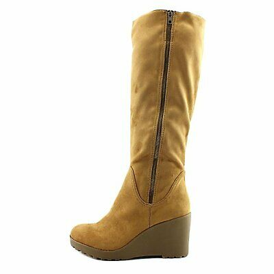 d8f3a8ffbed0 NINE WEST CHILLOUT Women s Tan Wedge Boot 8.5M NW OB -  34.99