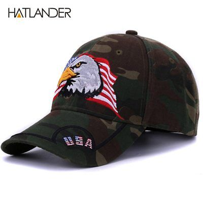 Embroidery Eagle camouflage baseball caps for men women outdoor
