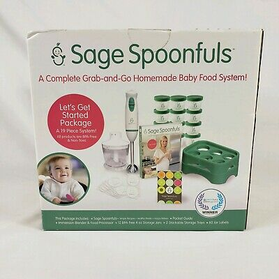 Sage Spoonfuls Immersion Hand Blender and Food Processor - Puree & Blend