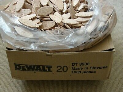 GENUINE DEWALT Quality Wood Jointing Biscuits Size 20 Bag Pack of 30 - new