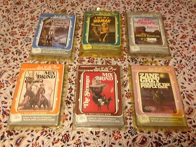 Vintage Lot of Western Books on Tape Audio Cassettes Book of the Road - 6 Books