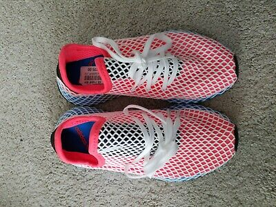 new style a252b 06cf3 Kids Adidas Deerupt Runner GS Solar Red Bluebird White DA9610