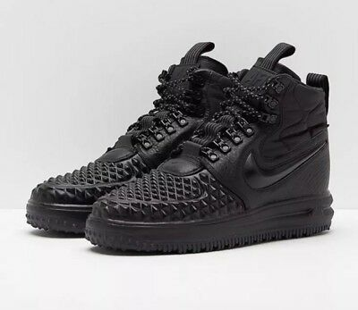 low priced 6a9fb 5c41c Nike Lunar Force 1 Duckboot 17 Shoes Black UK 11 EUR 46 Ref 916682 002 BNIB