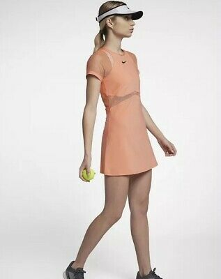 NIKE NIKECOURT MARIA SHARAPOVA TENNIS DRESS Peach Size Large BNWT REF 887467-695