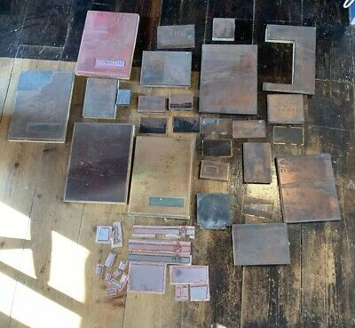 Rare Vintage Wooden Printing Plates Screen Blocks Scenery Landscape Protrait