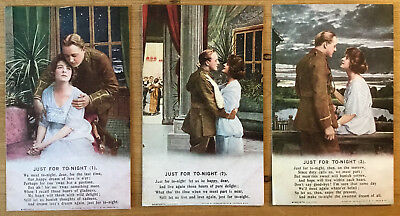 """Vintage Postcard - Bamforth Song Series 4888 - """"Just for To-Night""""  (A22)"""
