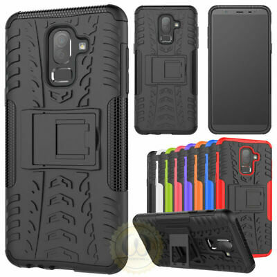 For Samsung Galaxy J8 (2018) Phone Rubber Hybrid Shockproof Armor Case Cover