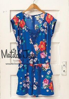 8379a9b59d8 Womens Matilda Jane Hello Lovely blue Out and About Romper Size M Medium EUC
