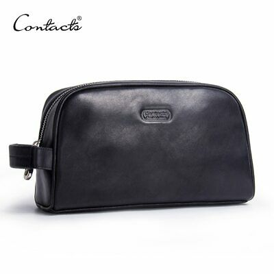 1aa1f02649 MEN MAKEUP BAG genuine leather large waterproof cosmetic travel bag ...