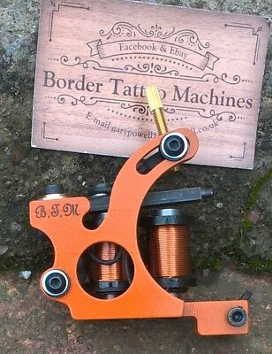 Border Tattoo Machine,cut-Back Liner Custom Iron Frame 8 Layer 32Mm T-Top Coils